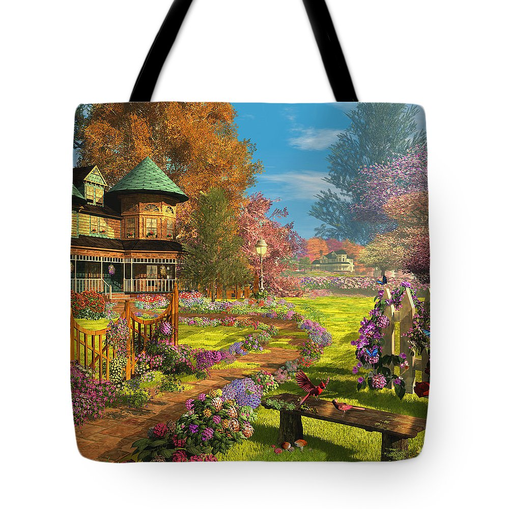 Art Licensing Tote Bag featuring the mixed media Victorian Dream by Caplyn Dor