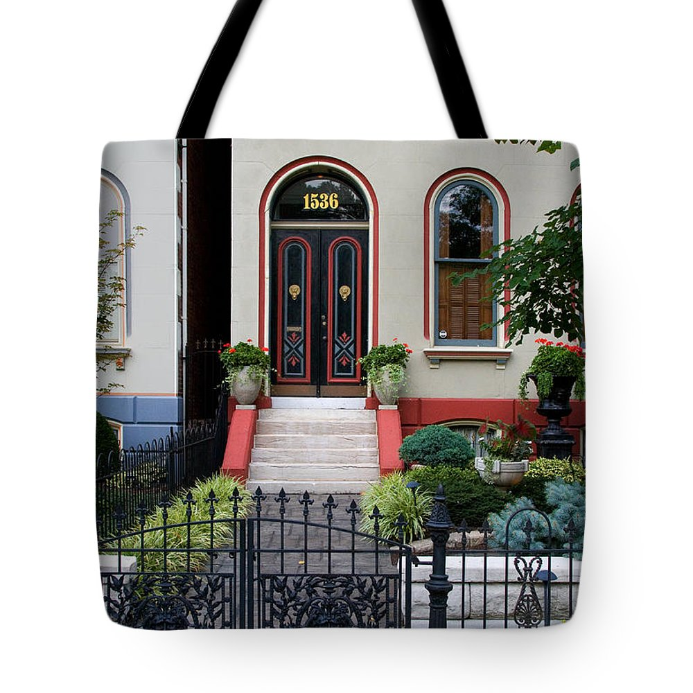 Victorian Tote Bag featuring the photograph Victorian House Lafayette Sq St Louis by Greg Kluempers