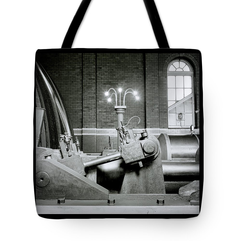 Steampunk Tote Bag featuring the photograph The Machine by Shaun Higson