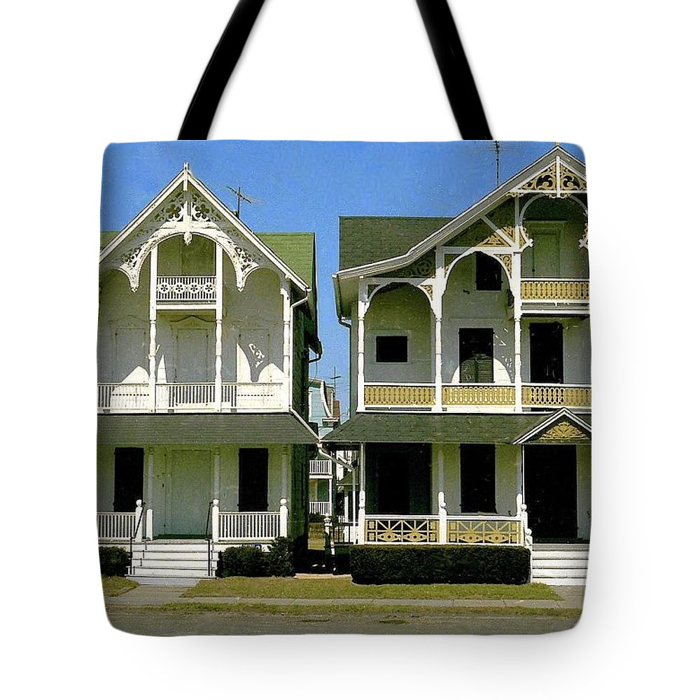 Victorian Homes Tote Bag featuring the photograph Victorians At Ocean Grove New Jersey by Ira Shander