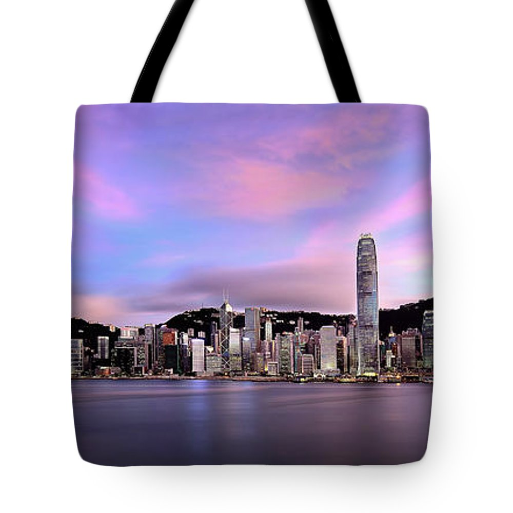 Tranquility Tote Bag featuring the photograph Victoric Harbour, Hong Kong, 2013 by Joe Chen Photography