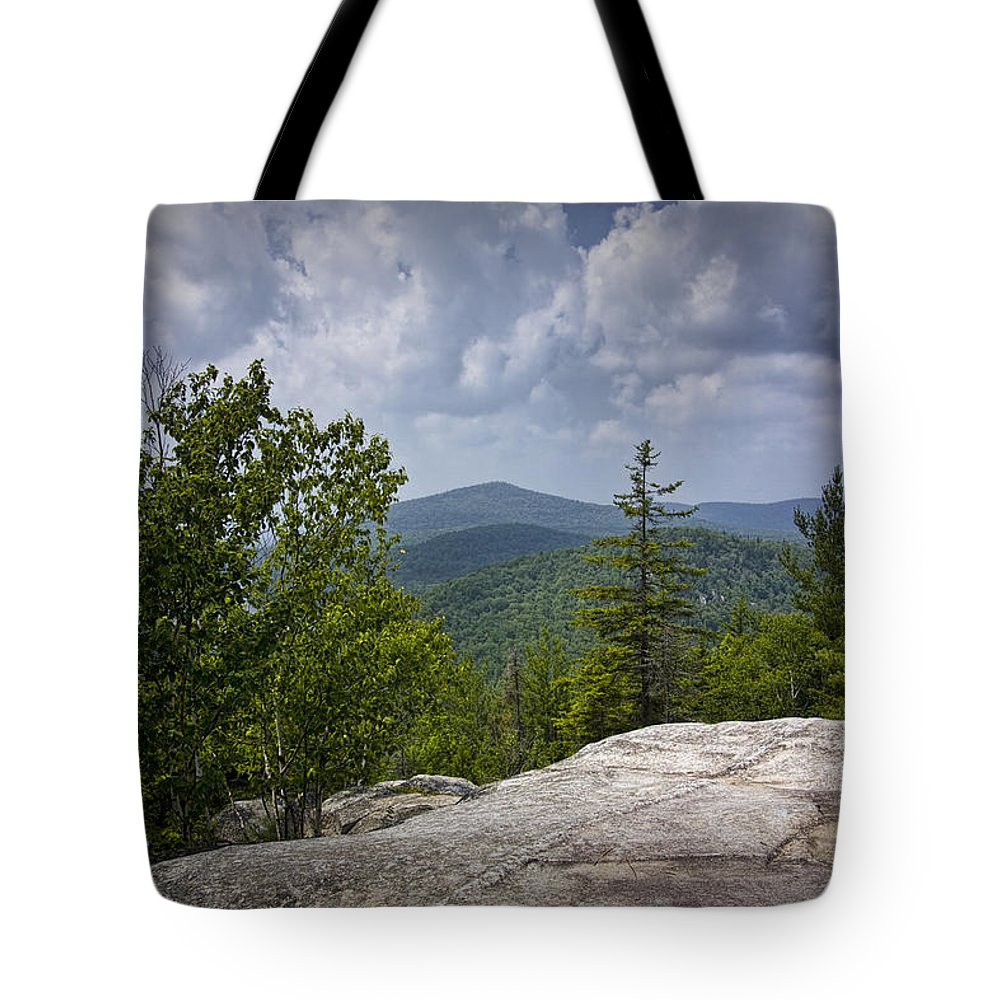 Art Tote Bag featuring the photograph View From A Mountain In A Vermont by Randall Nyhof