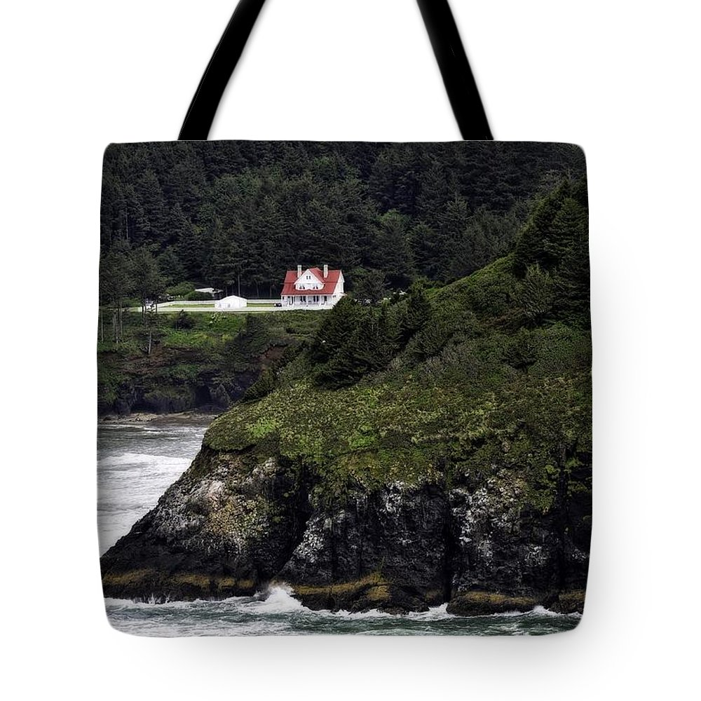 Heceta Head Tote Bag featuring the photograph View From Hyway 101 by Image Takers Photography LLC - Laura Morgan