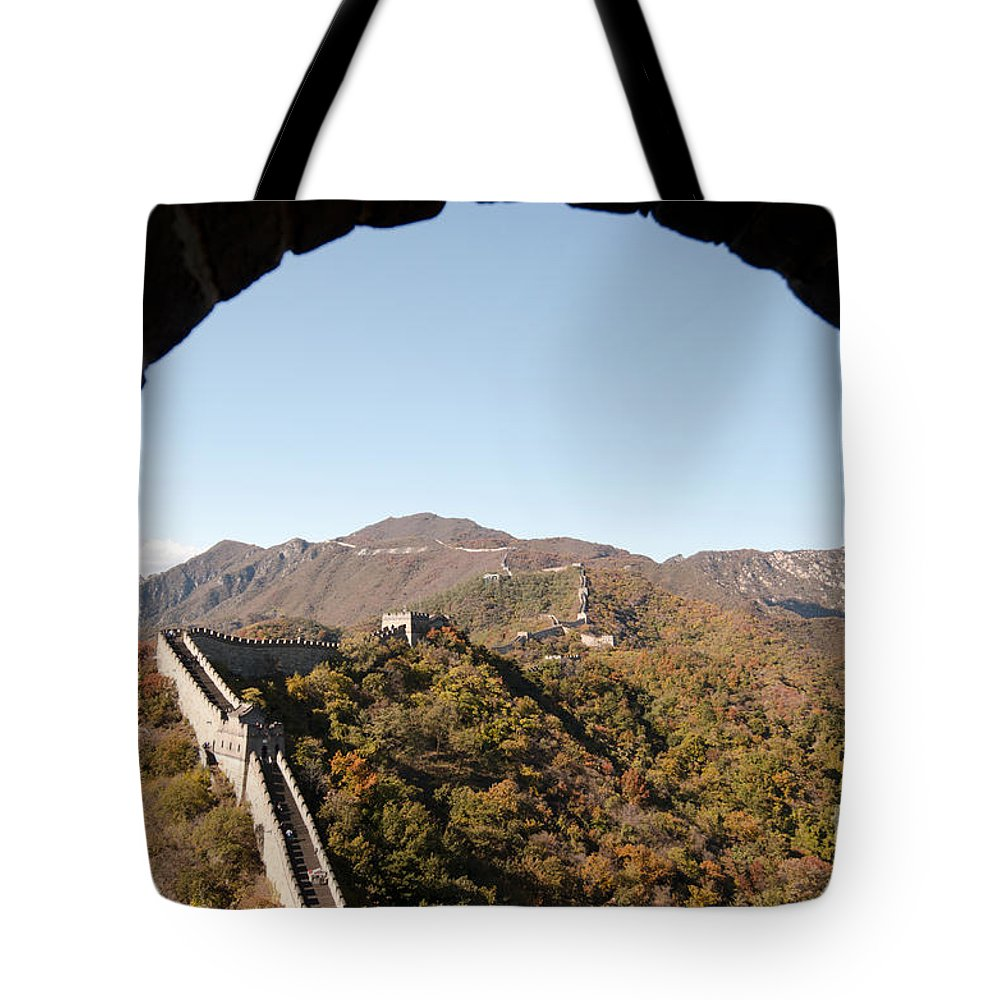 Window View Tote Bag featuring the photograph View From The Great Wall 696 by Terri Winkler