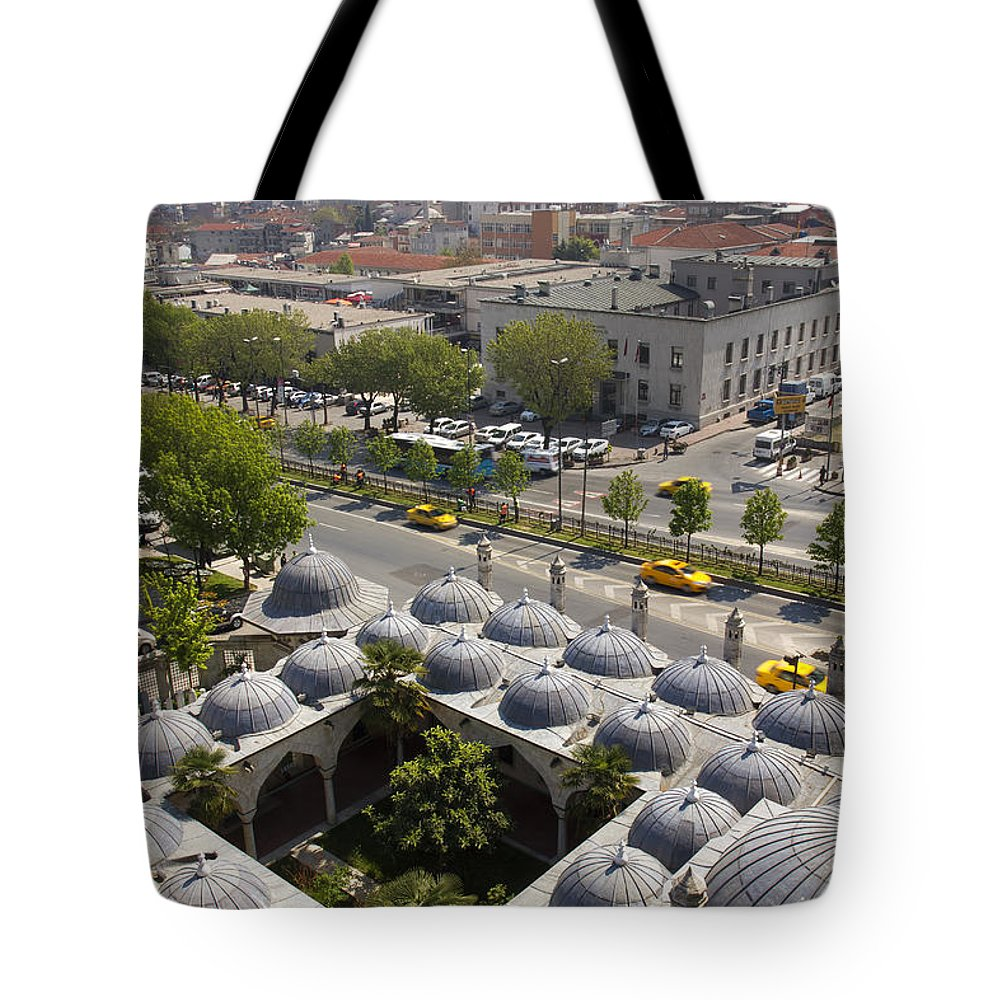 Aqueduct Tote Bag featuring the photograph View From The Valens Aqueduct In Istanbul by For Ninety One Days