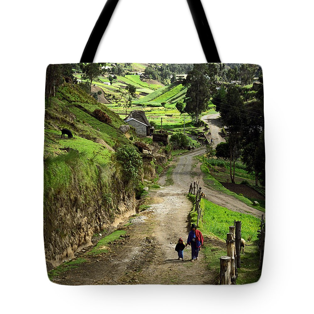 Ecuador Tote Bag featuring the photograph View Of Lupaxi by Kathy McClure