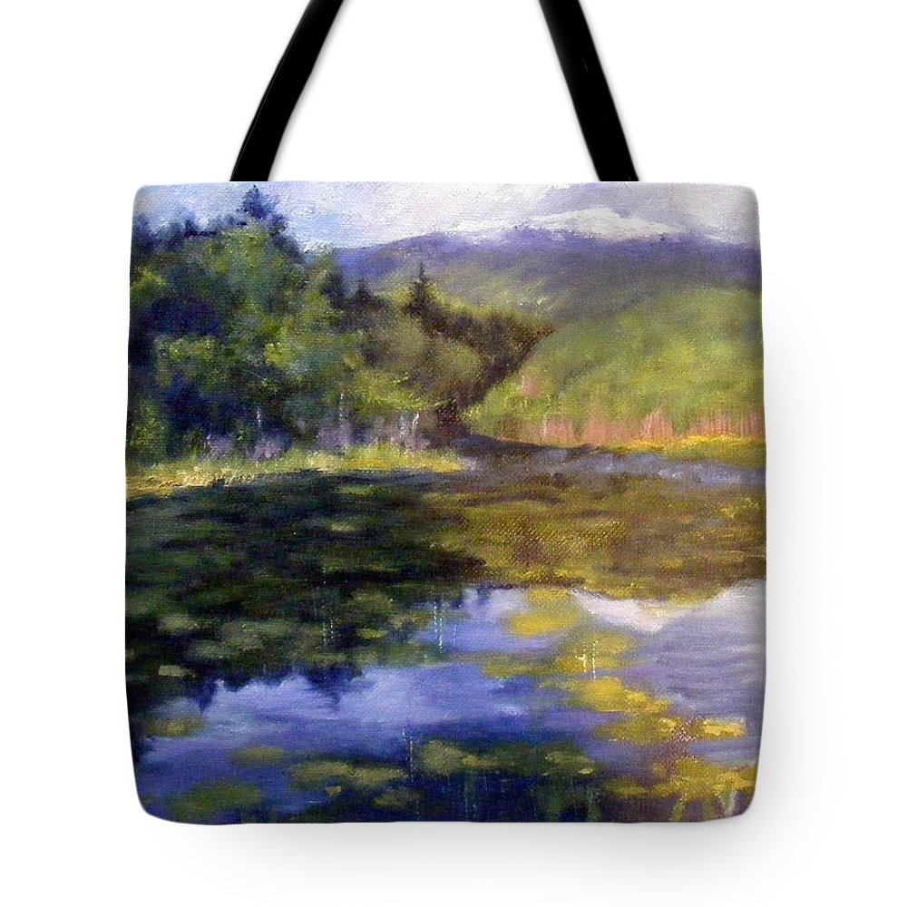 Mt. Monadnock Tote Bag featuring the painting View Of Mt. Mondadnock by Lenore Gaudet