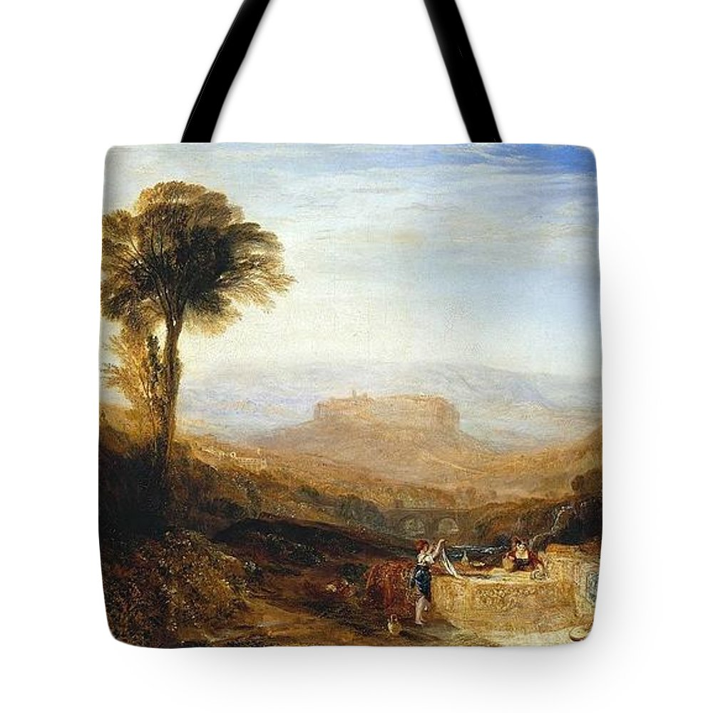1830 Tote Bag featuring the painting View Of Orvieto by JMW Turner