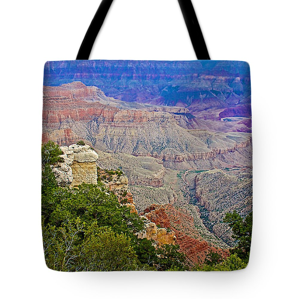 View Seven From Walhalla Overlook On On North Rim/grand Canyon National Park Tote Bag featuring the photograph View Seven From Walhalla Overlook On North Rim Of Grand Canyon-arizona by Ruth Hager