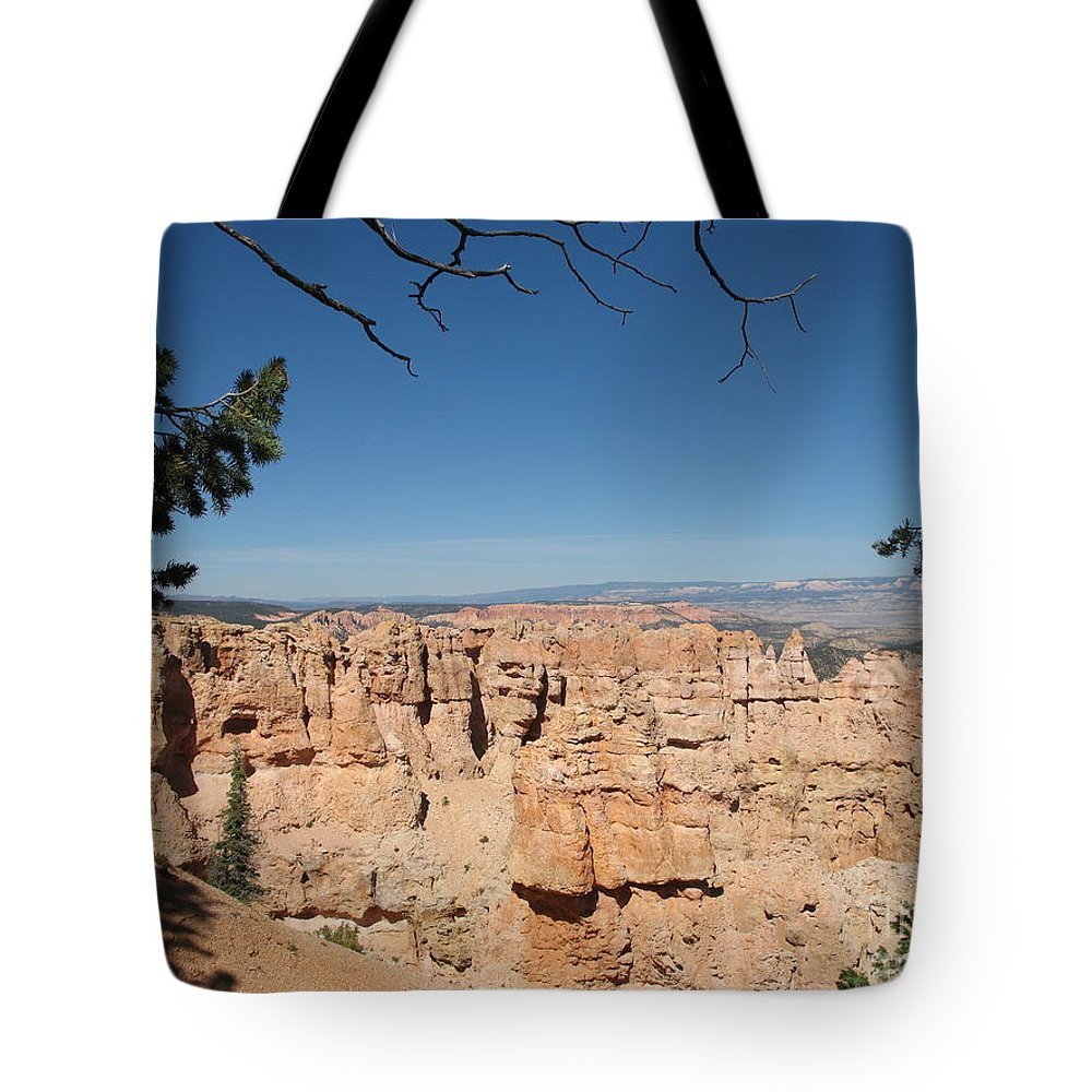 Mountains Tote Bag featuring the photograph Viewpoint At Bryce Canyon by Christiane Schulze Art And Photography
