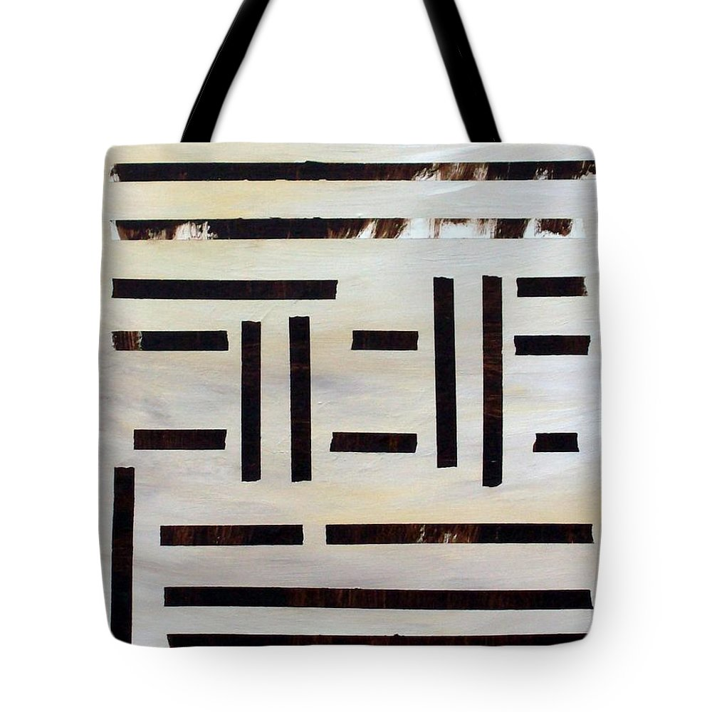 Abstract Tote Bag featuring the mixed media Vigilance by Linda Wimberly