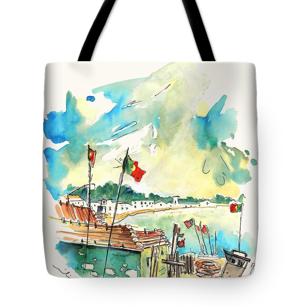 Travel Tote Bag featuring the painting Vila Cha 03 by Miki De Goodaboom