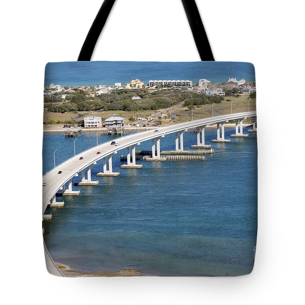 Florida Tote Bag featuring the photograph Vilano Bridge St Augustine Florida by Bill Cobb