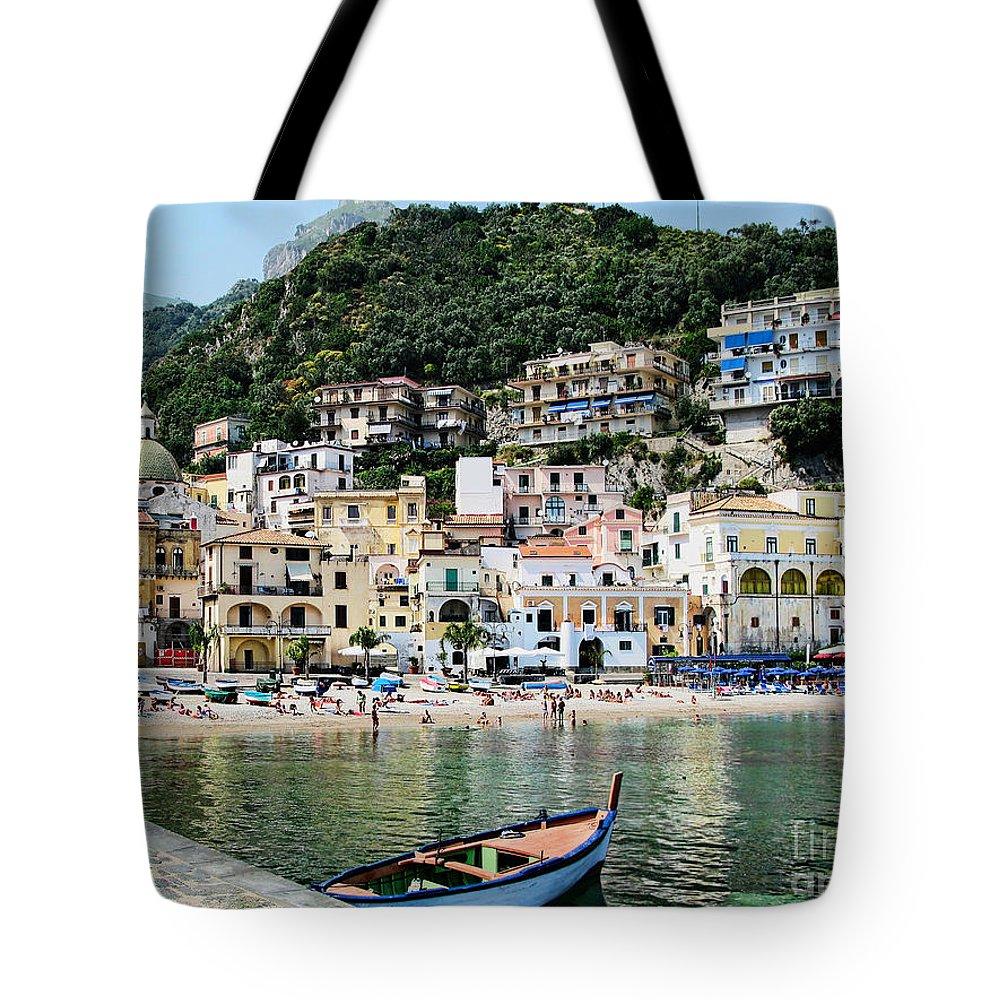 Cetara Tote Bag featuring the photograph Village Of Cetara by Jennie Breeze