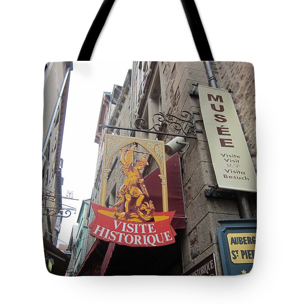 Sign Tote Bag featuring the photograph Village Sign by Pema Hou