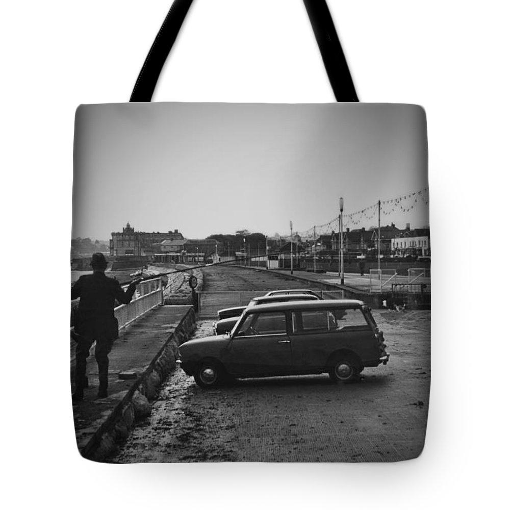 1970s Tote Bag featuring the photograph Vinatge 70s Fishing by Maj Seda