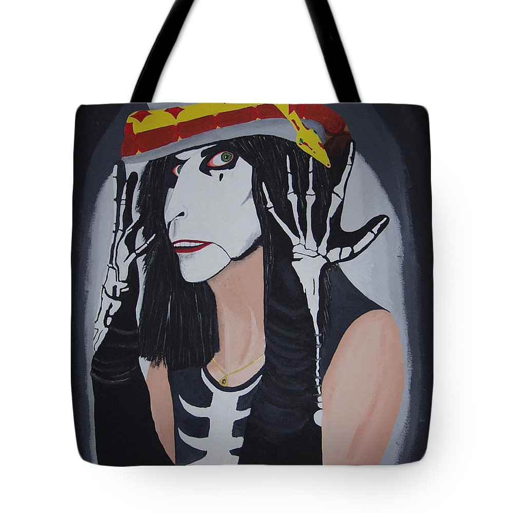 Crazy Tote Bag featuring the painting Vincent by Dean Stephens