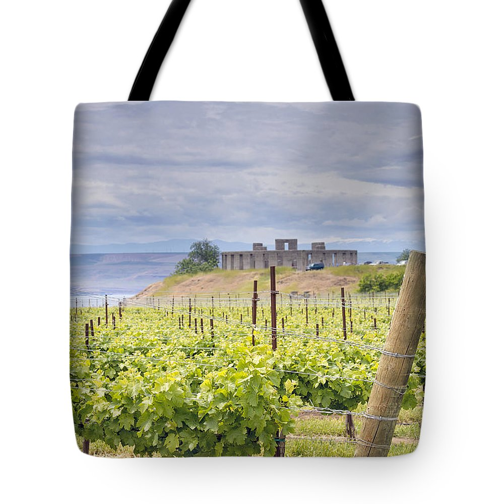 Winery Tote Bag featuring the photograph Vineyard In Maryhill Washington State by Jit Lim