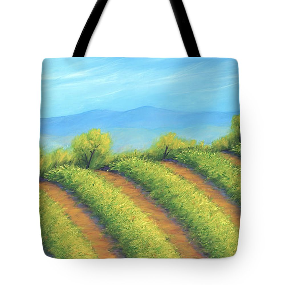 Vineyard Tote Bag featuring the painting Vineyard by Jerome Stumphauzer