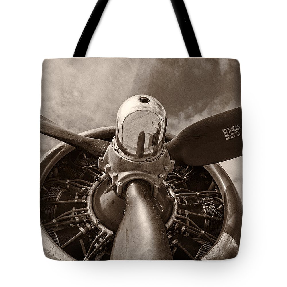 3scape Tote Bag featuring the photograph Vintage B-17 by Adam Romanowicz