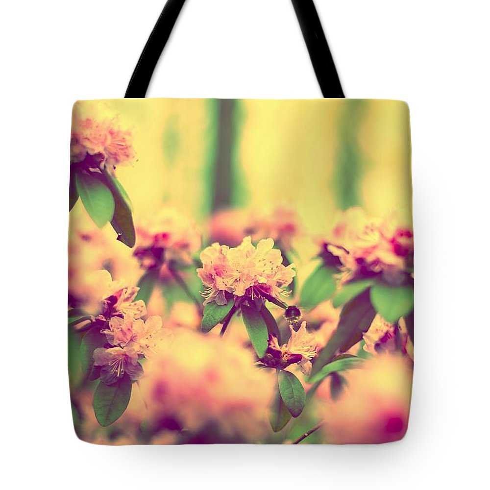 Bumblebee Tote Bag featuring the photograph Vintage Bumblebee's Bush by Yevgeni Kacnelson