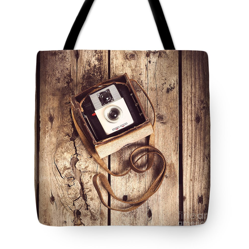Camera Tote Bag featuring the photograph Vintage Camera by Tim Hester