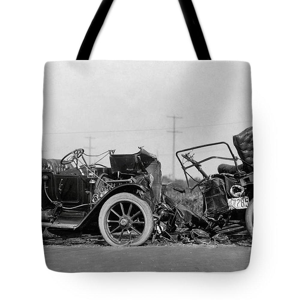 Vintage Car Crash 1914 Tote Bag for Sale by Daniel Hagerman
