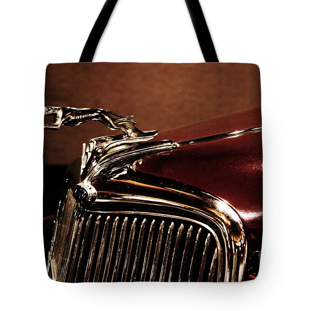 Hood Ornament Tote Bag featuring the photograph Vintage Ford Hood Ornament by Christiane Schulze Art And Photography