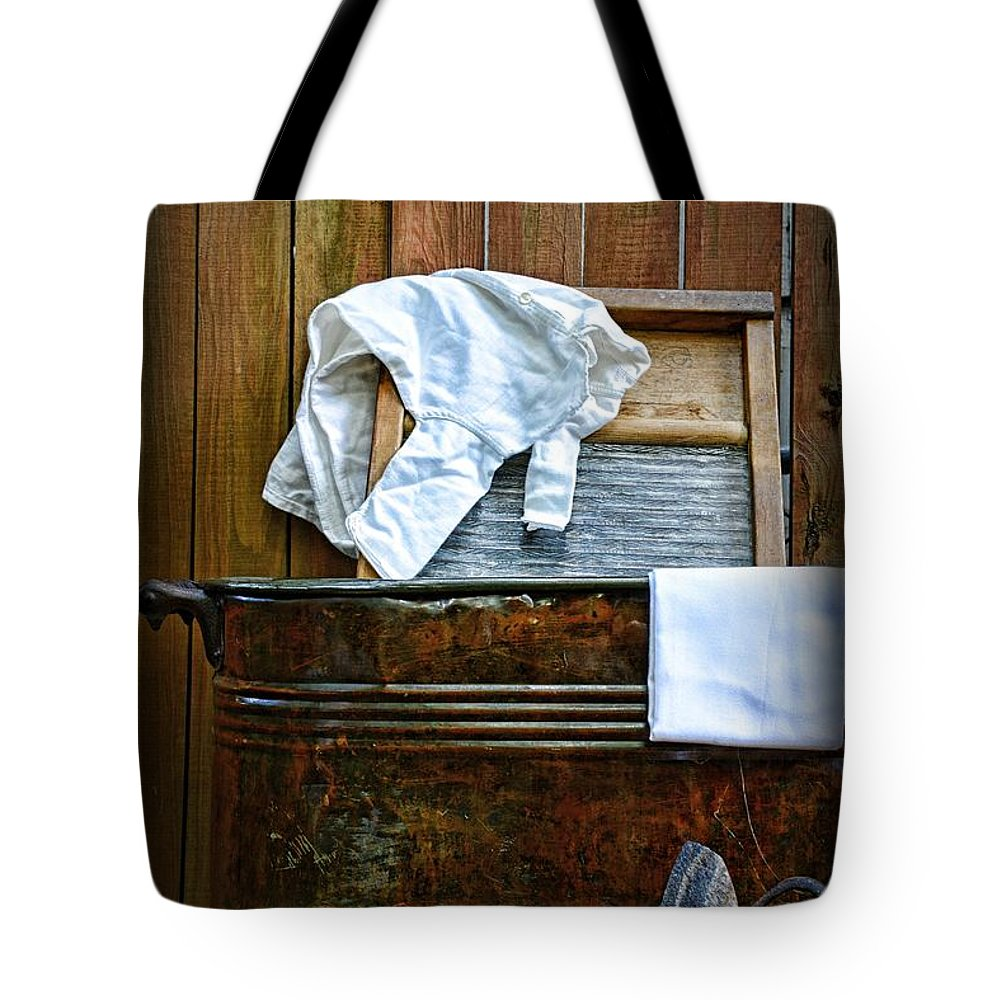 Paul Ward Tote Bag featuring the photograph Vintage Laundry Room by Paul Ward