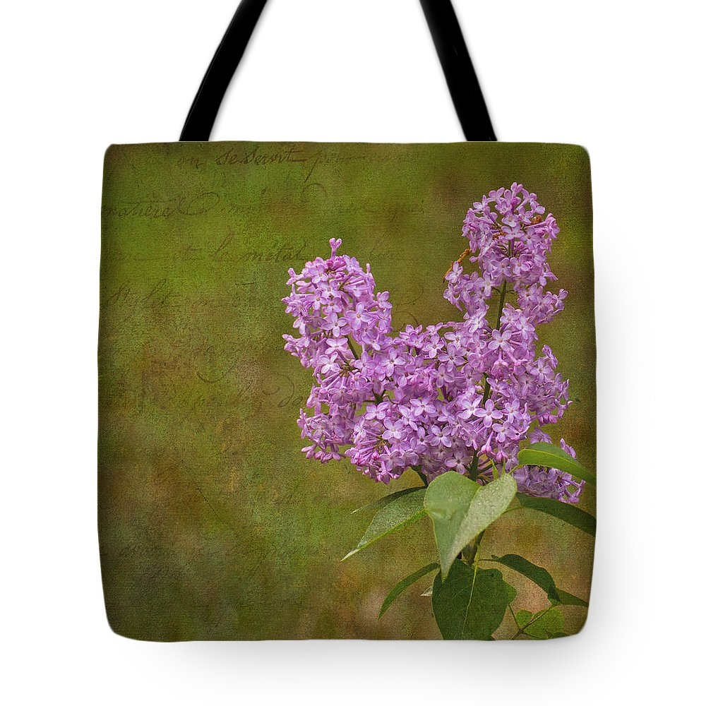 Vintage Photographs Tote Bag featuring the photograph Vintage Lilac Bush by Mel Hensley