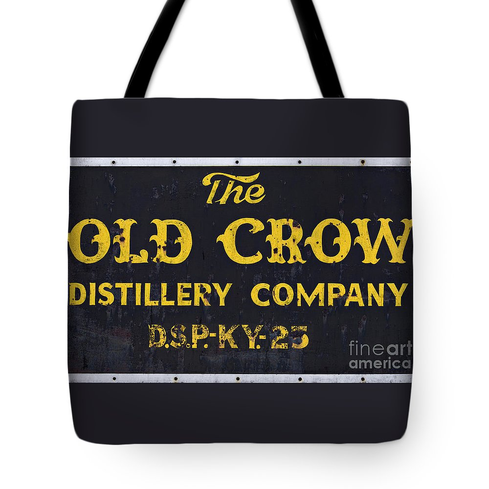 Sign Tote Bag featuring the photograph Vintage Old Crow - D008693 by Daniel Dempster