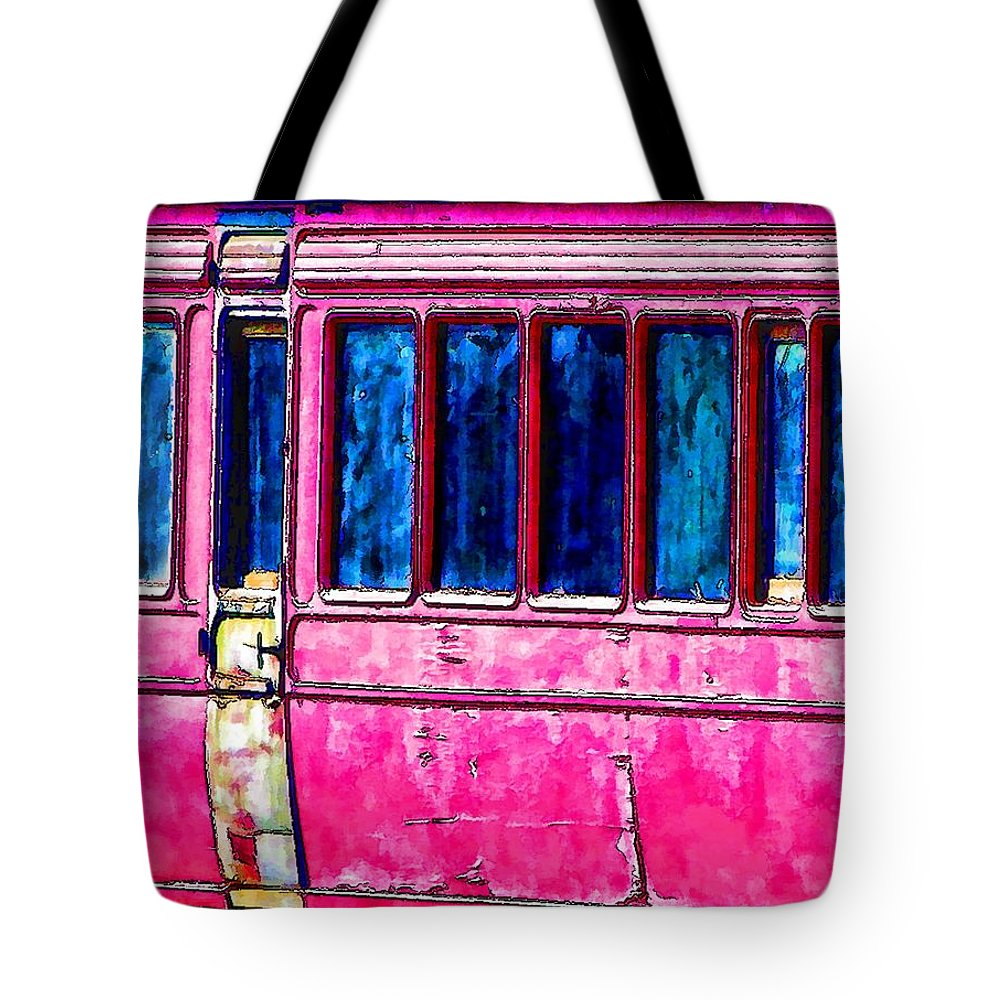 Locomotion Tote Bag featuring the photograph Vintage Passenger Carriage by John Lynch