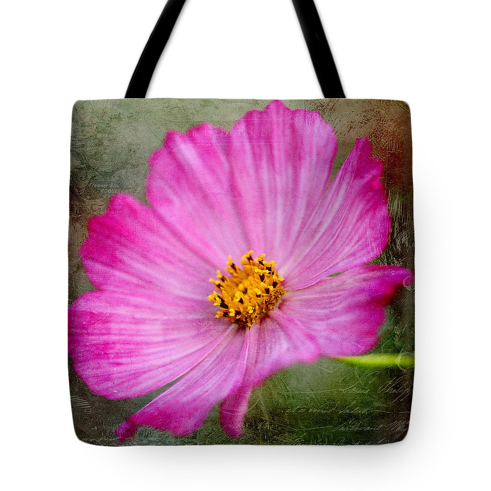 Nature Tote Bag featuring the photograph Vintage Pinc Flower by Kamen Zagorov