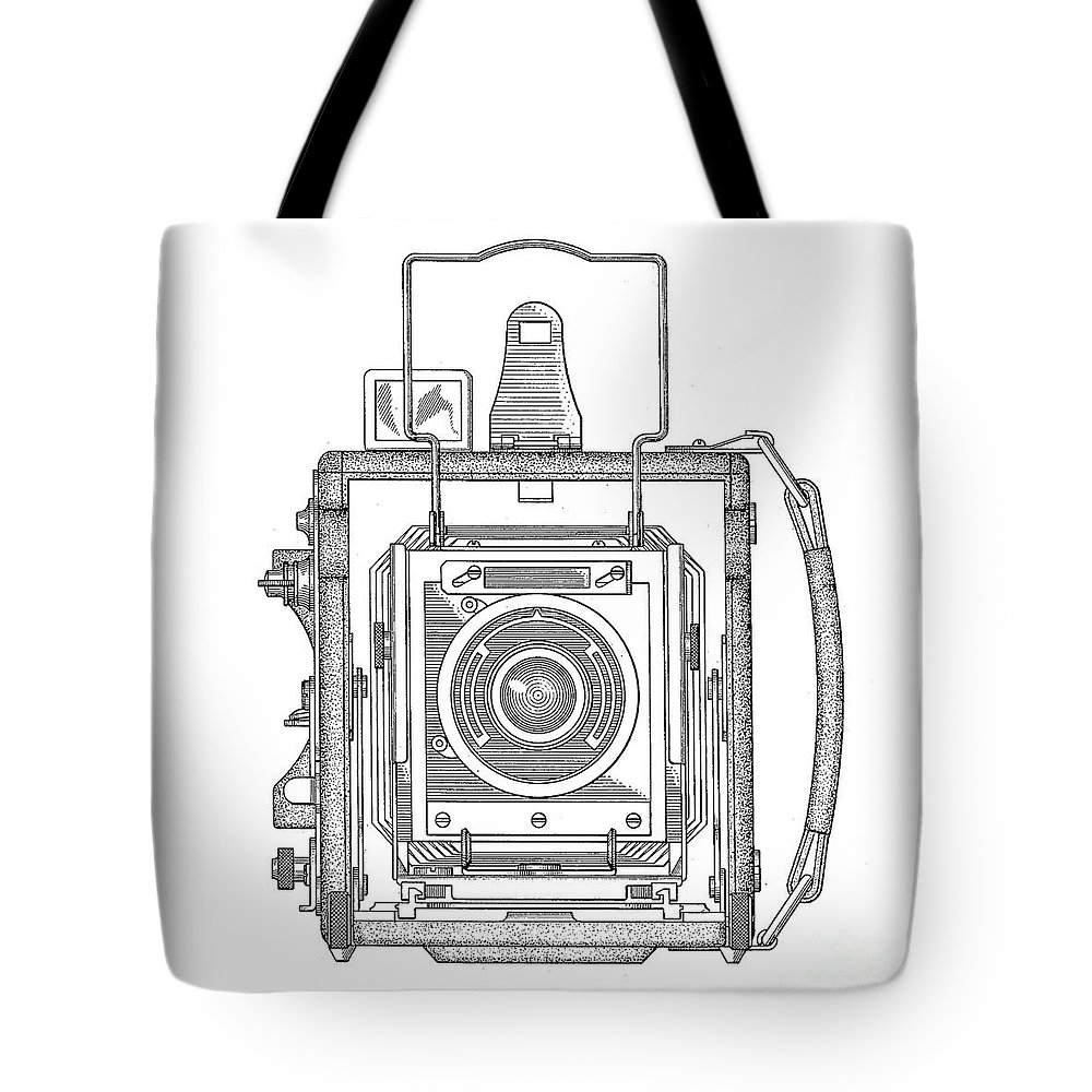 Vintage Press Camera Patent Drawing Tote Bag For Sale By Edward Fielding