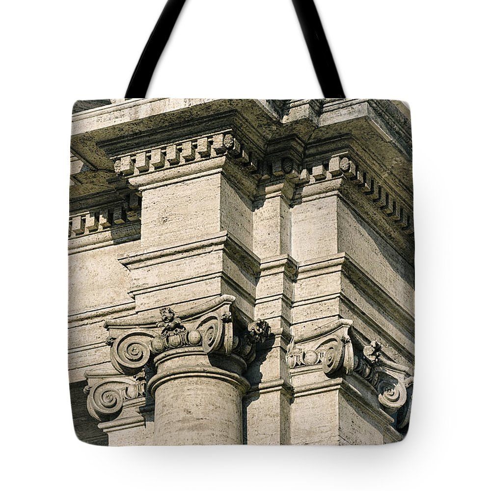 Ancient Tote Bag featuring the photograph Vintage Rome by Joan Carroll