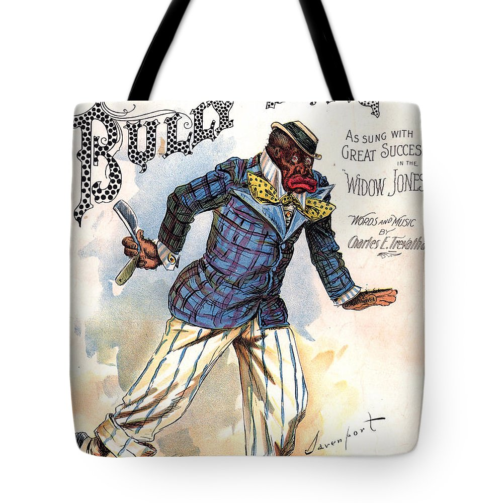 Vintage Sheet Music Cover Tote Bag featuring the digital art Vintage Sheet Music Cover 1896 by Davenport