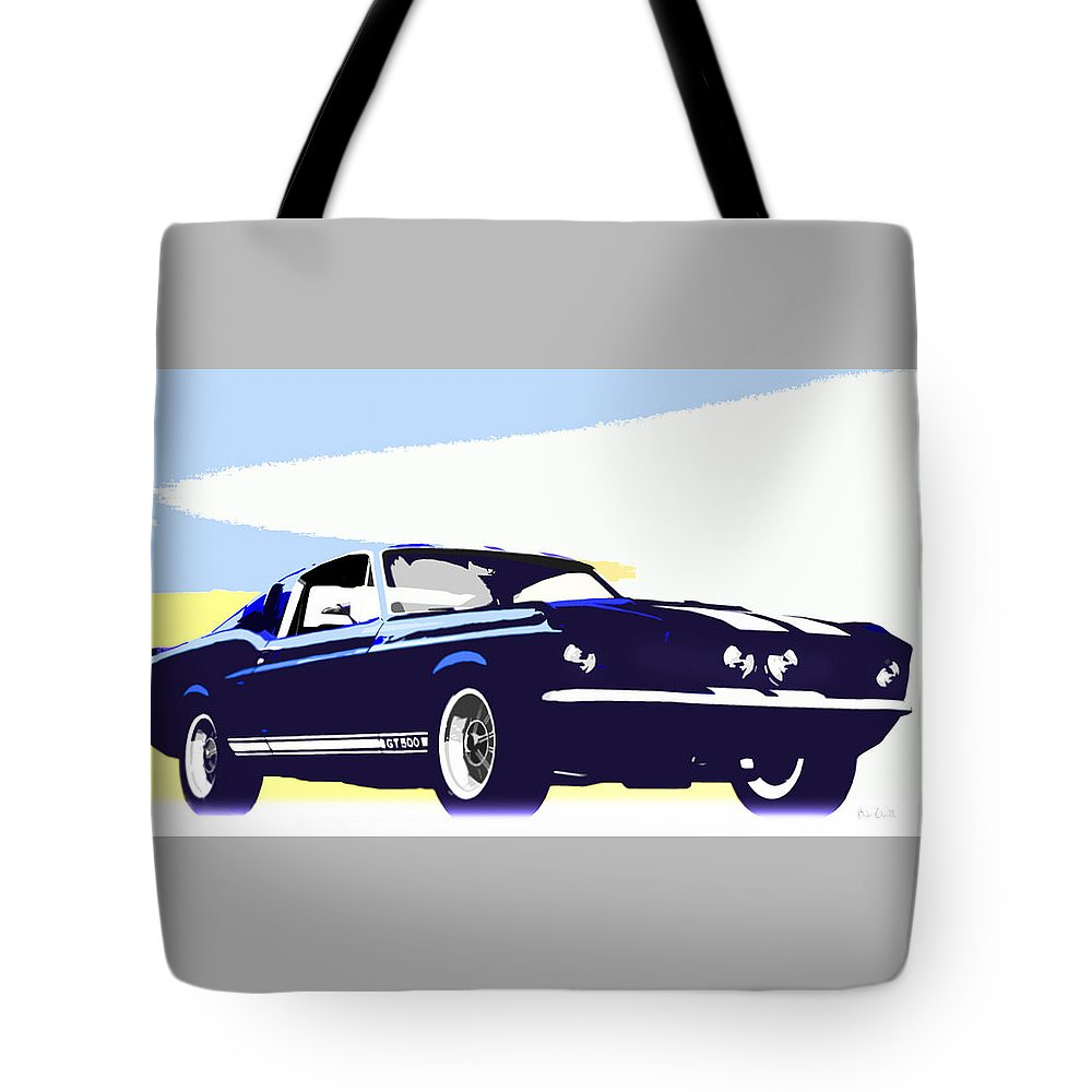 Shelby Tote Bag featuring the photograph Vintage Shelby Gt500 by Bob Orsillo