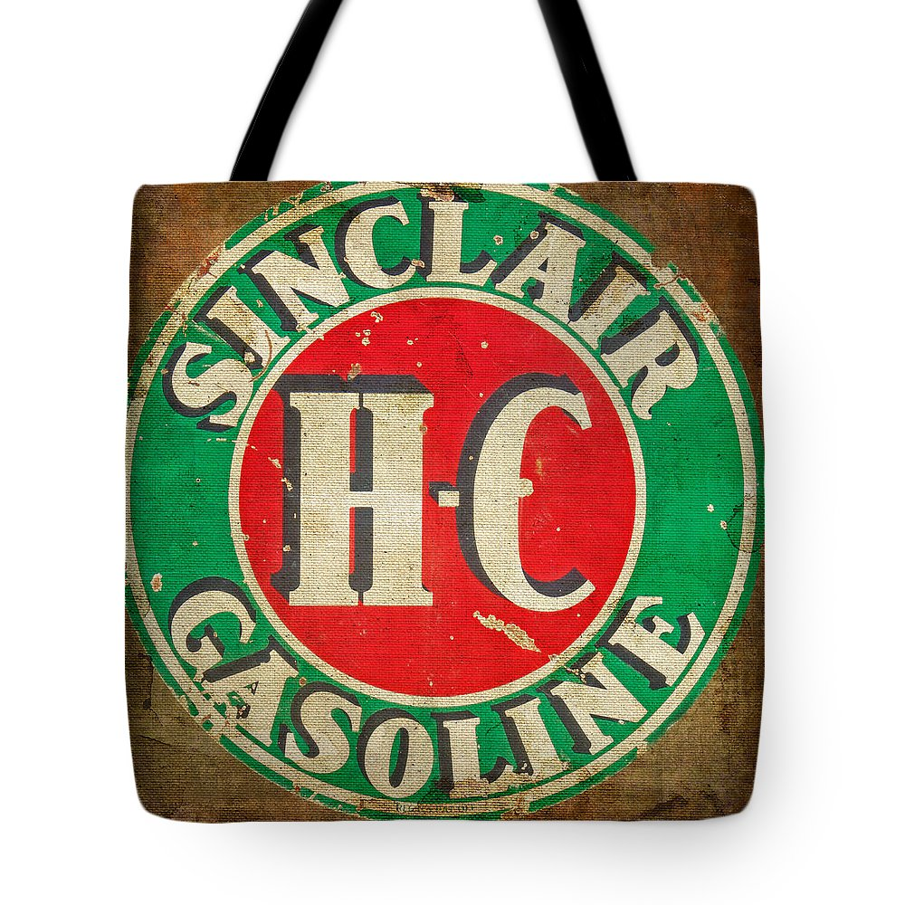 Sinclair Gasoline Tote Bag featuring the photograph Vintage Sinclair Gasoline Sign by HH Photography of Florida