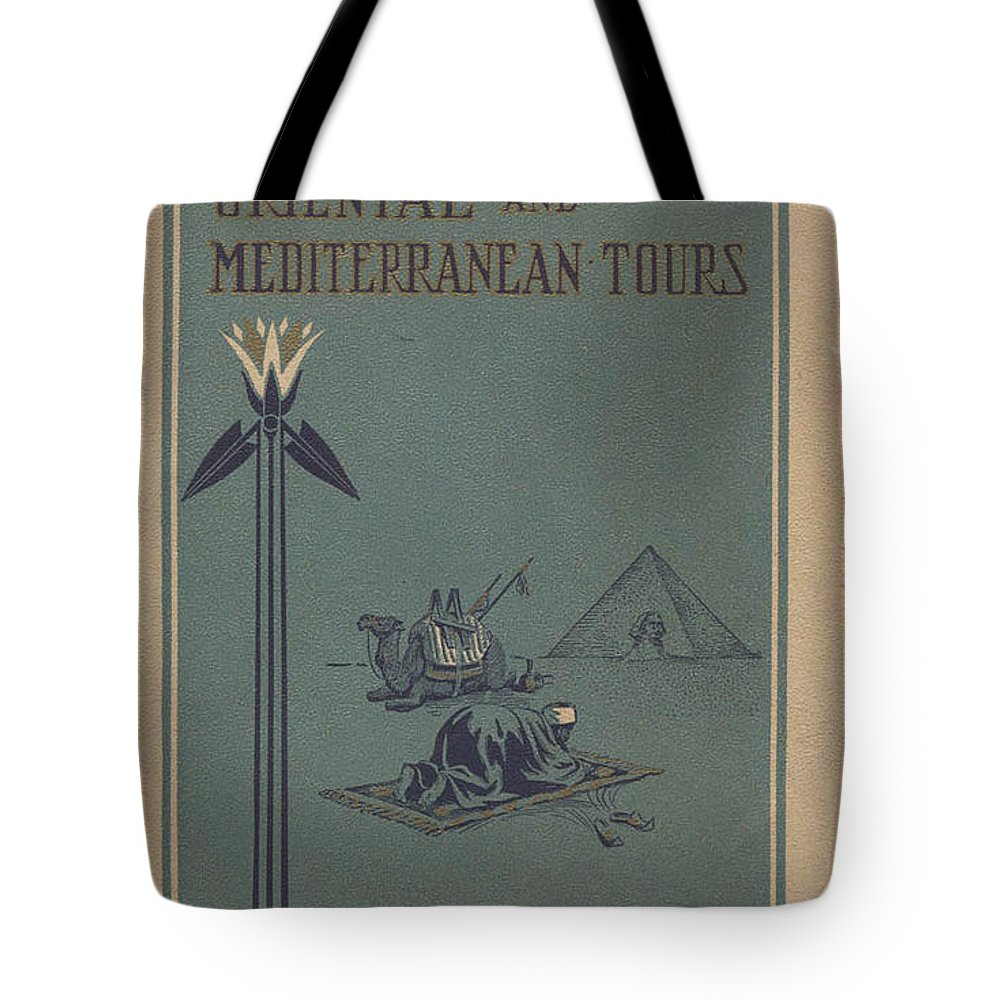Nmah Tote Bag featuring the painting Vintage Travel Poster Of Oriental And Mediterranean Tours by Celestial Images