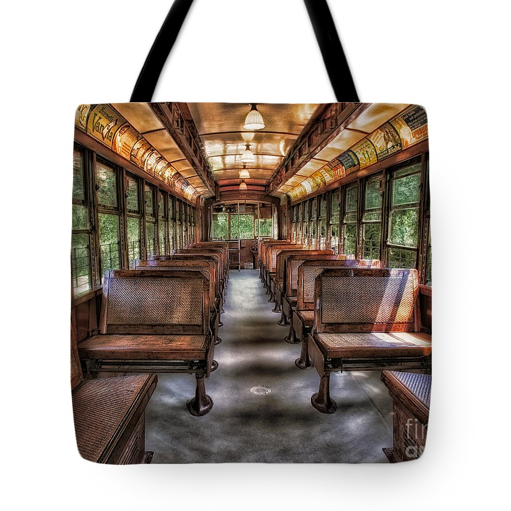 Number Tote Bag featuring the photograph Vintage Trolley No. 948 by Susan Candelario