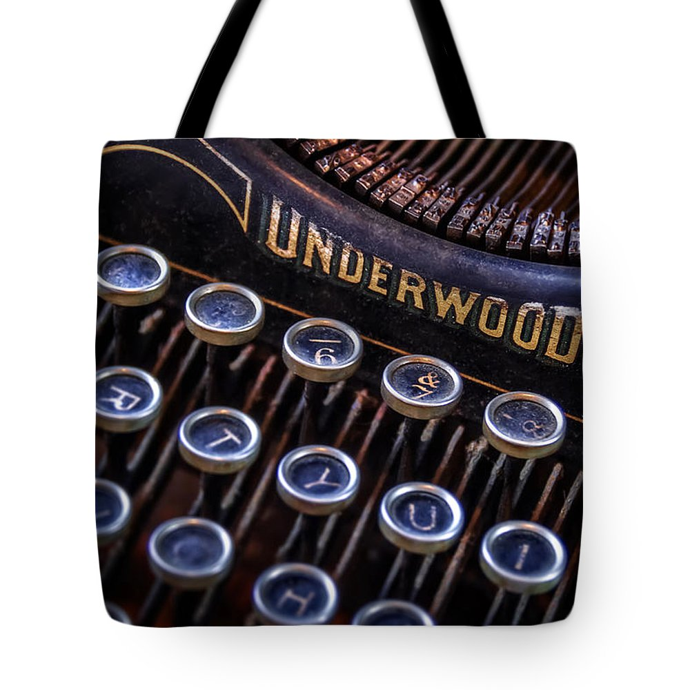 Retro Tote Bag featuring the photograph Vintage Typewriter 2 by Scott Norris