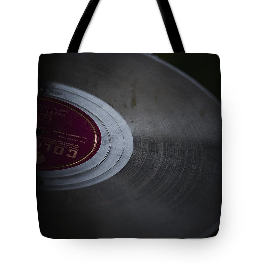 Record Tote Bag featuring the photograph Vintage Vinyl by Margie Hurwich