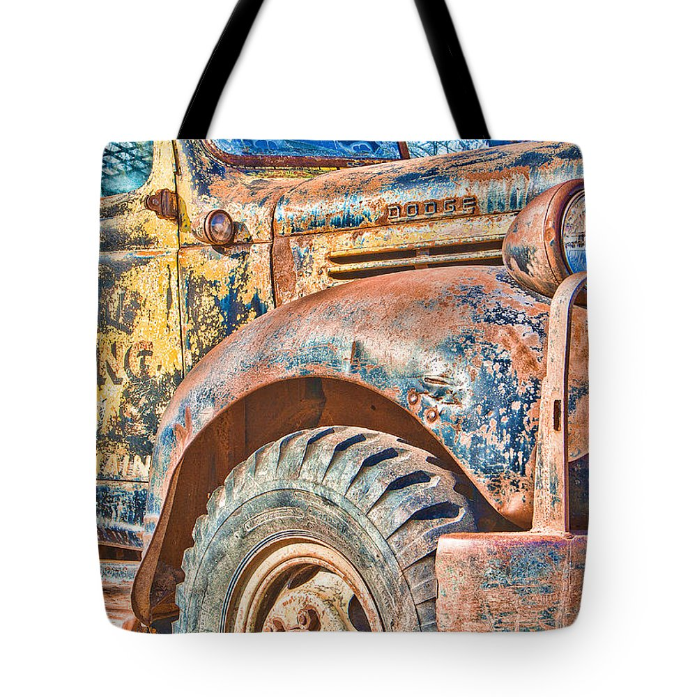 Steven Bateson Tote Bag featuring the photograph Vintage Welding Truck by Steven Bateson