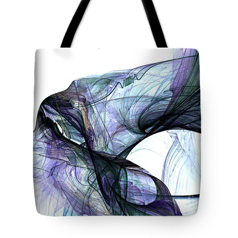 Angel Tote Bag featuring the digital art Violet Angel Rising by Vicki Lynn Sodora