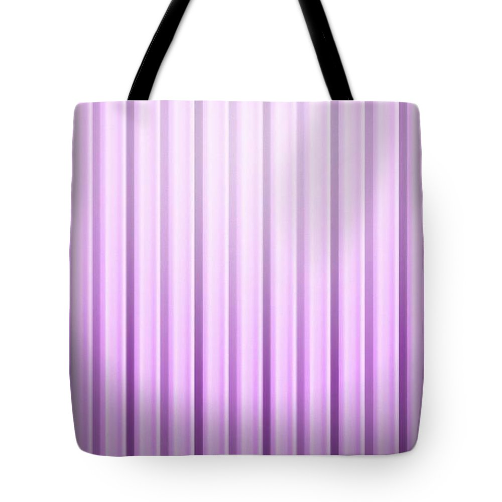 Red Tote Bag featuring the mixed media Violet Band by Archangelus Gallery
