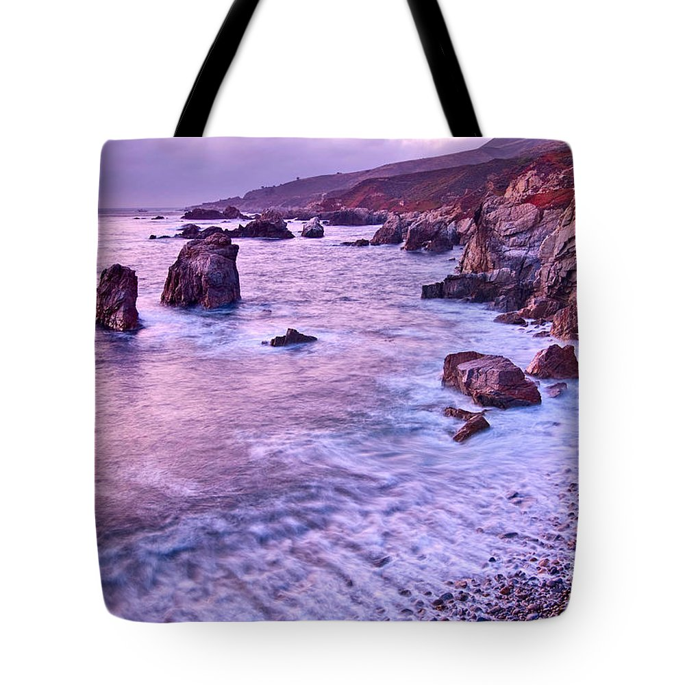 Soberanes Point Tote Bag featuring the photograph Violet Tides - Rocky Coast From Soberanes Point In Garrapata State by Jamie Pham