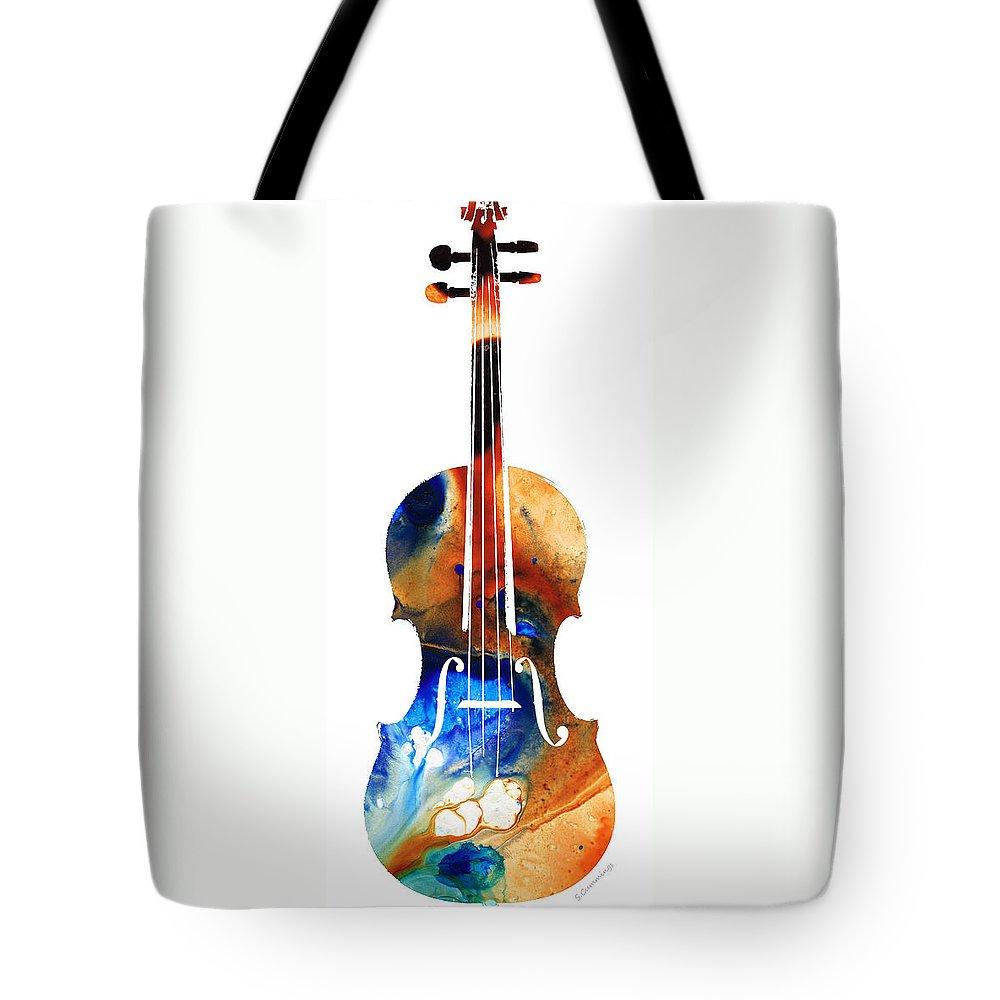 Violin Art Tote Bags