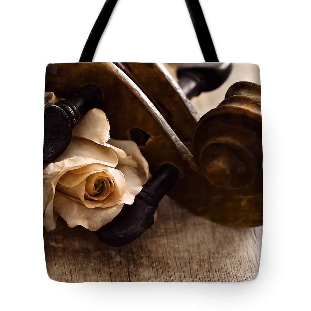Violin Tote Bag featuring the photograph Violin by Guna Andersone