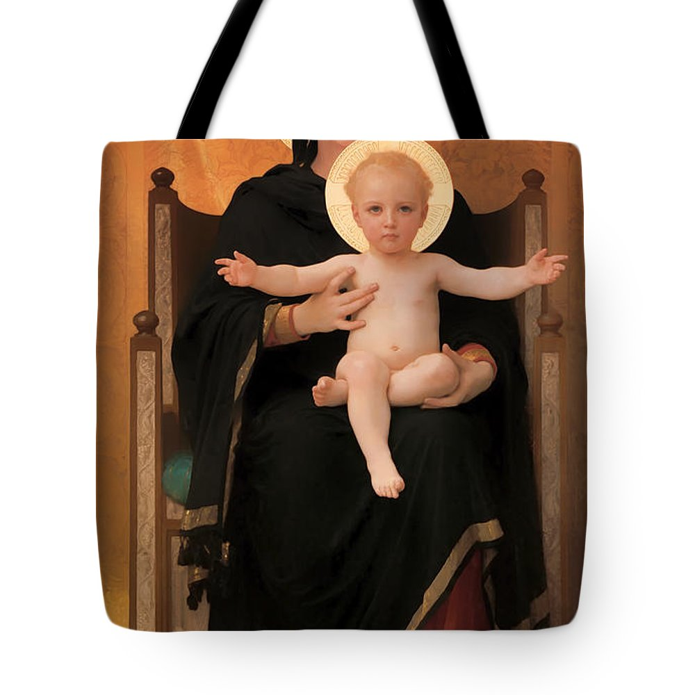 Painting Tote Bag featuring the painting Virgin And Child by Mountain Dreams