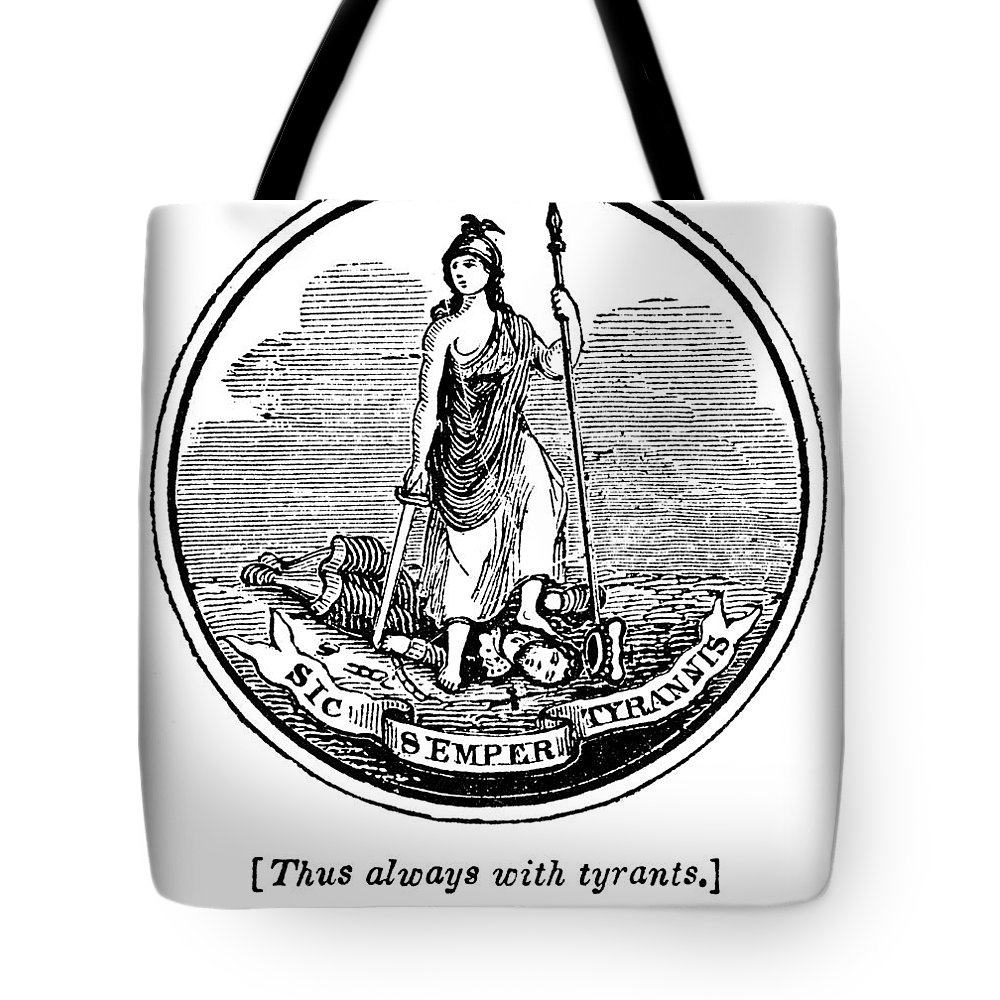 18th Century Tote Bag featuring the photograph Virginia State Seal by Granger